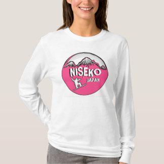 Niseko Japan pink snowboarder ladies hoodie