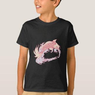 Nishikigoi Koi Jumping Waves Drawing T-Shirt