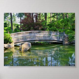 Nishinomiya Japanese Garden at Manito Park Poster