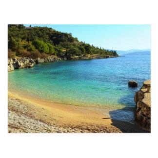 Nissaki beach postcard