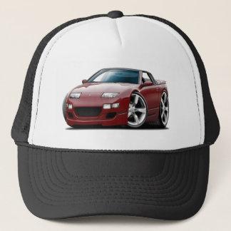 Nissan 300ZX Maroon Convertible Trucker Hat