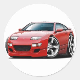 Nissan 300ZX Red Car Classic Round Sticker