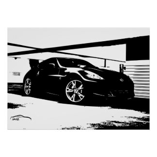 Nissan 370Z Roof Top Poster