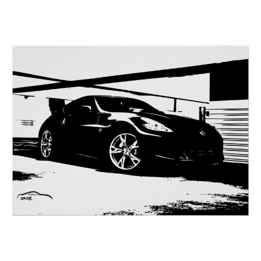 Nissan 370Z Roof Top Print