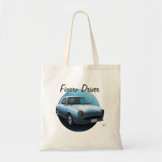 Nissan Figaro Driver Pale Aqua Car Custom Tote Bag