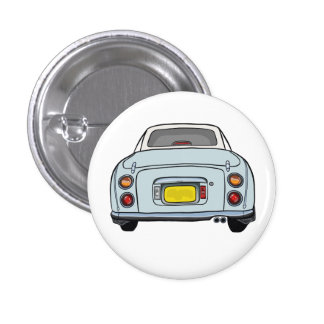 Nissan Figaro - Pale Aqua - Button Badge