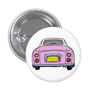Nissan Figaro - Pink Button Badge
