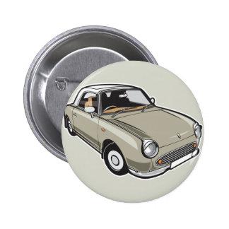 Nissan Figaro Topaz Mist 2 Inch Round Button