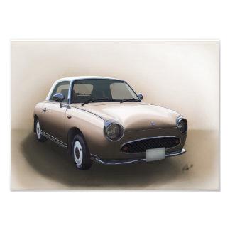Nissan Figaro Topaz Mist Poster
