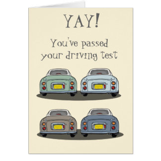 Nissan Figaro Yay! Driving Test Congrats Card