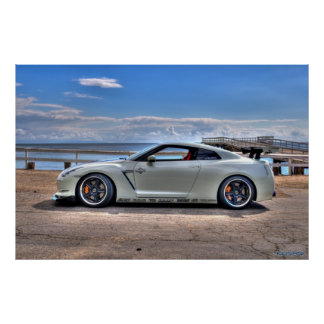 Nissan GT-R at Paradise Cove Poster