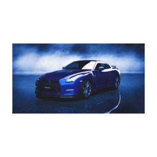 Nissan GT-R Blue Quality Canvas Print