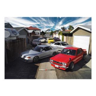 Nissan GT-R R32 R33 R34 R35 Skyline Hakosuka Photo Print