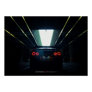 Nissan GT-R R35 in Downtown LA Poster