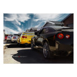 Nissan GT-R R35, R34, R33, R32, Hakosuka Skyline Print