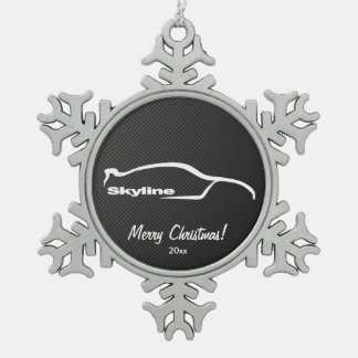 Nissan Skyline GT-R Snowflake Pewter Christmas Ornament