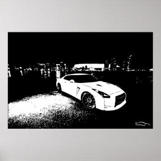 Nissan Skyline GTR City Shot Poster