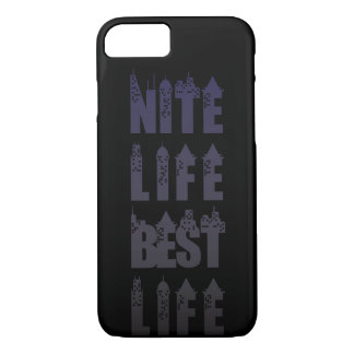 Nite Life Best Life iPhone Case