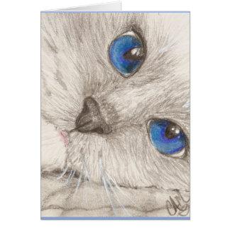 """""""Nite-Nite"""" Blank Cat Notecard"""