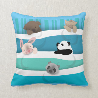 Nite Nite Sleeping Animals Throw Pillow