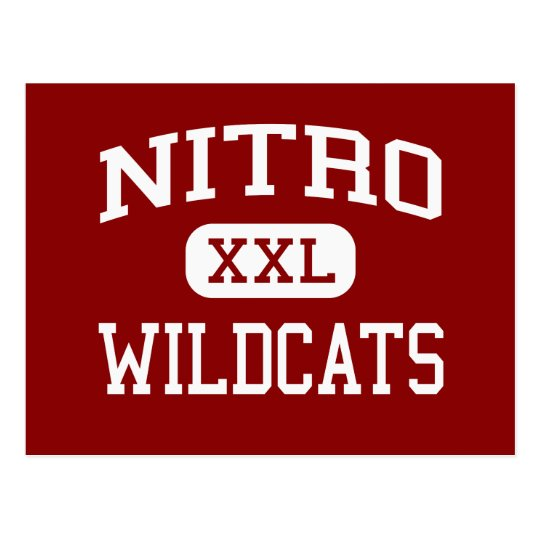 Nitro - Wildcats - High - Nitro West Virginia Postcard