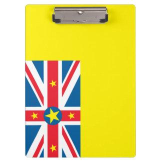 Niue Flag Clipboard