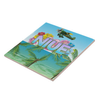 Niue South Pacific travel poster Ceramic Tiles