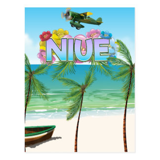 Niue South Pacific travel poster Postcard