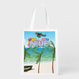 Niue South Pacific travel poster Reusable Grocery Bag
