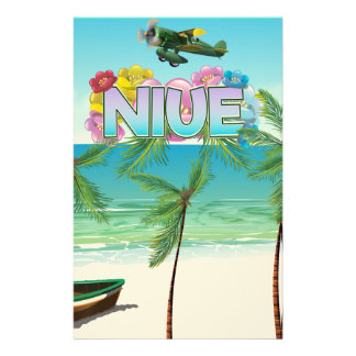 Niue South Pacific travel poster Stationery