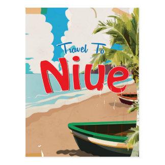 Niue vintage travel poster postcard