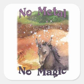Nix No Metal No Magic Stickers