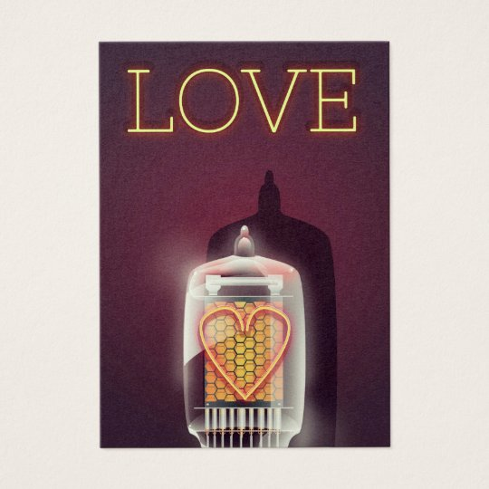 Nixie Tube 'Love' vintage poster Business Card
