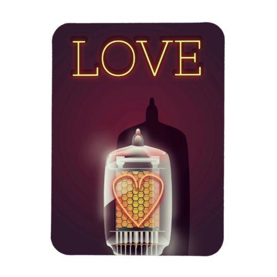 Nixie Tube 'Love' vintage poster Magnet