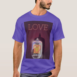 Nixie Tube 'Love' vintage poster T-Shirt