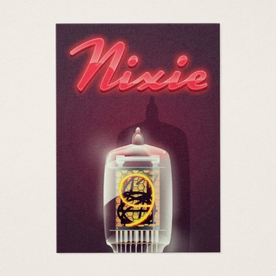 Nixie Tube vintage poster Business Card