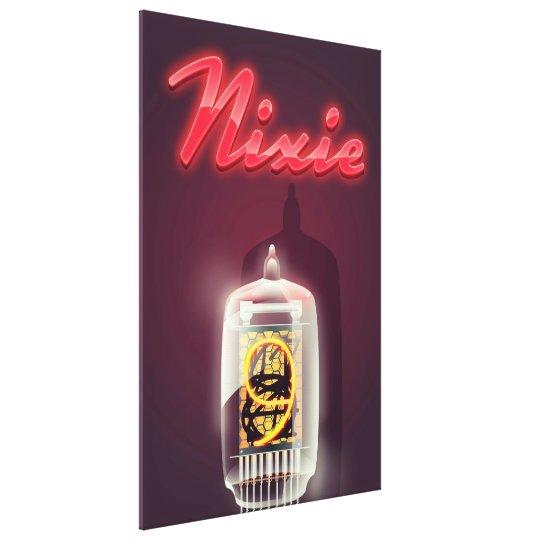 Nixie Tube vintage poster Canvas Print