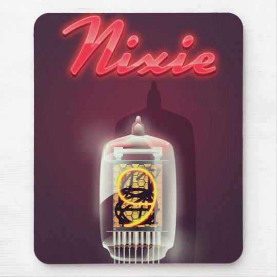 Nixie Tube vintage poster Mouse Pad