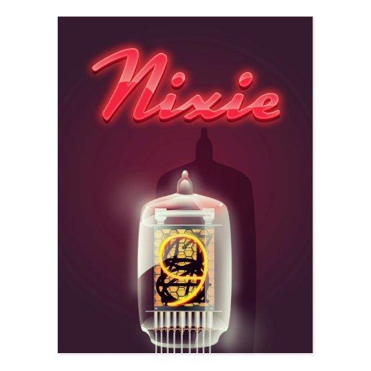Nixie Tube vintage poster Postcard