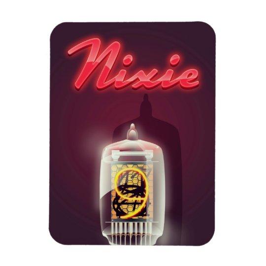 Nixie Tube vintage poster Rectangular Photo Magnet