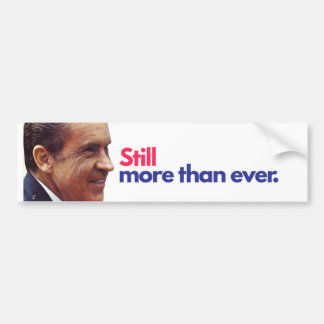 Nixon bumper sticker