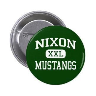 Nixon - Mustangs - High School - Laredo Texas 2 Inch Round Button