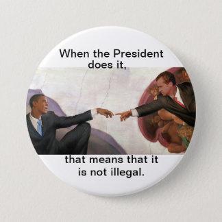 Nixon & Obama: Soul Mates 3 Inch Round Button