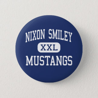 Nixon Smiley - Mustangs - High - Nixon Texas 2 Inch Round Button