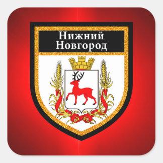 Nizhny Novgorod  Flag Square Sticker