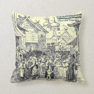 """Nizhny Novgorod, Russia 1817  Нижний Новгород"" Throw Pillow"