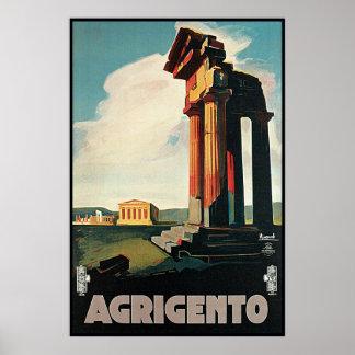Nizzoli Agrigento Sicily Italy Poster