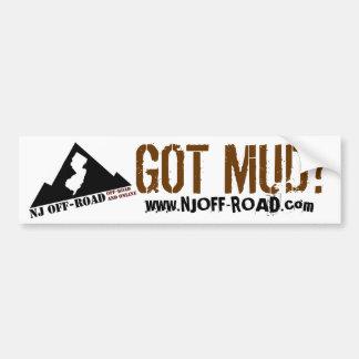 NJ OFF-ROAD GOT MUD? BUMPER STICKER