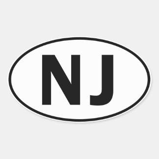 NJ Oval Identity Sign Oval Sticker