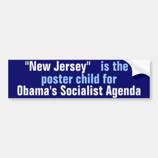 NJ poster child Bumper Sticker